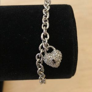 Dainty juicy couture silver bracelet